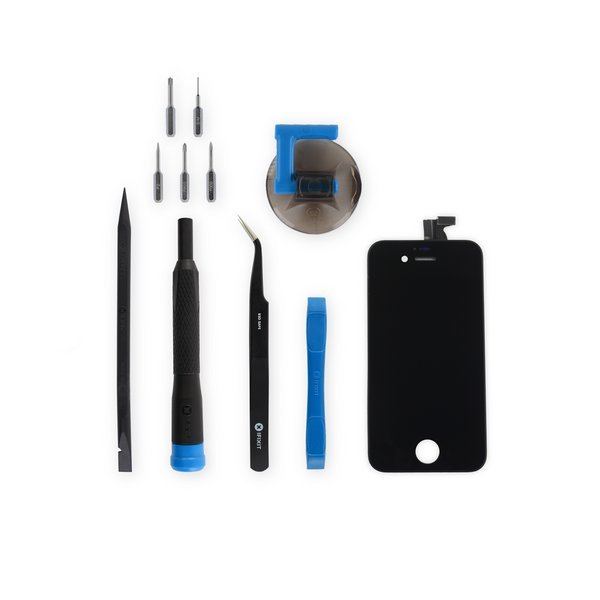 iPhone 4S Screen / New / Fix Kit / Black