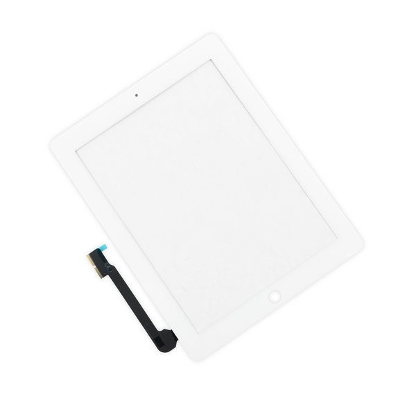 iPad 3/4 Screen Digitizer / New / Part Only / White / Without Adhesive Strips