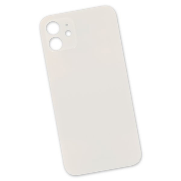 iPhone 12 mini Aftermarket Blank Rear Glass Panel / White