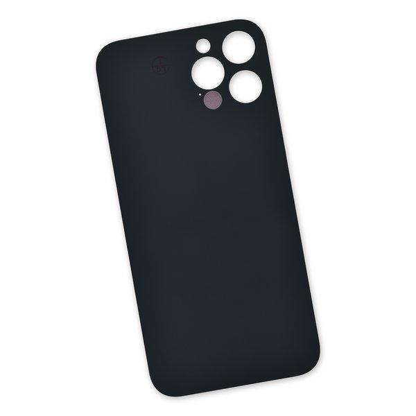 "iPhone 12 Pro Max Aftermarket Blank Rear Glass Panel / Dark Gray ""Graphite"""