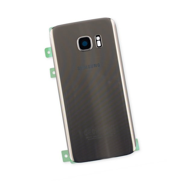 Galaxy S7 Rear Glass Panel/Cover - Original / Gold / Part Only