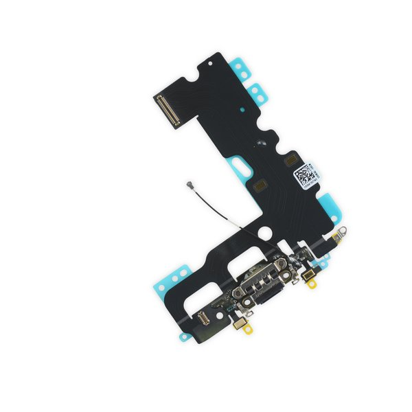 iPhone 7 Lightning Connector Assembly / Black / New / Part Only