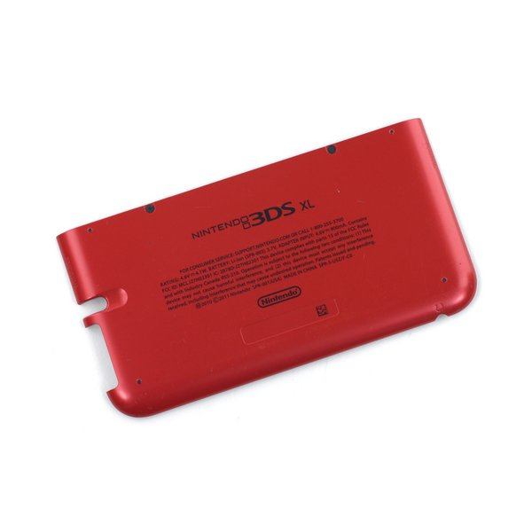 Nintendo 3DS XL Rear Case / Red / A-Stock