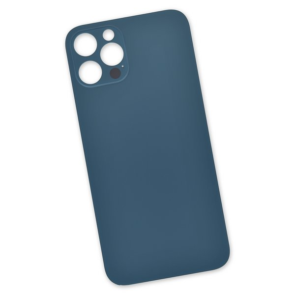 """iPhone 12 Pro Aftermarket Blank Rear Glass Panel / Blue """"Pacific Blue"""""""