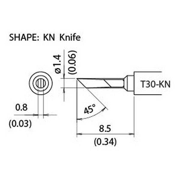 T30 Series tips fit Hakko FM-2032 Soldering Iron / T30-KN / Tiny Knife Tip