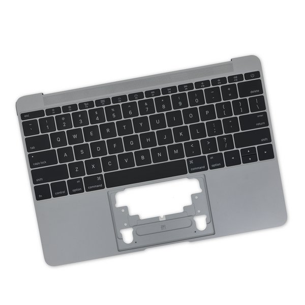 "MacBook 12"" Retina (Early 2016-2017) Upper Case with Keyboard / Dark Gray / New"