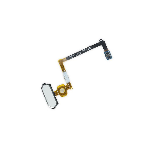 Galaxy S6 Home Button and Cable Assembly / White / New
