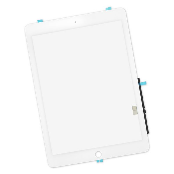 iPad 6 Screen Digitizer / Part Only / White / With Adhesive
