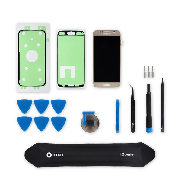 Galaxy S7 Screen / Gold / Fix Kit v3 / driver + SIM Tool / AMOLED