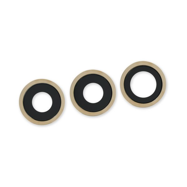 iPhone 12 Pro Rear Camera Lenses and Bezels / Gold