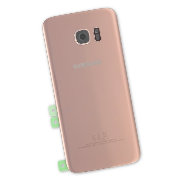 Galaxy S7 Edge Rear Glass Panel/Cover - Original / Part Only / Rose Gold