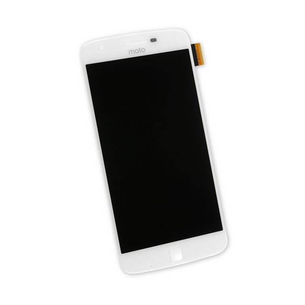 Moto Z Play Screen / White / Part Only