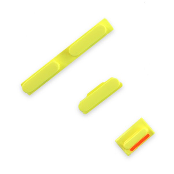 iPhone 5c Case Button Set / Yellow