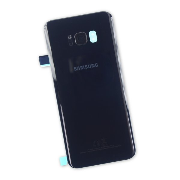 Galaxy S8+ Rear Glass Panel/Cover - Original / Black / Part Only