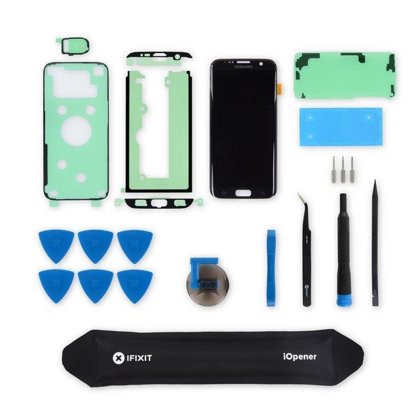 Galaxy S7 Edge Screen / Black / Fix Kit v2