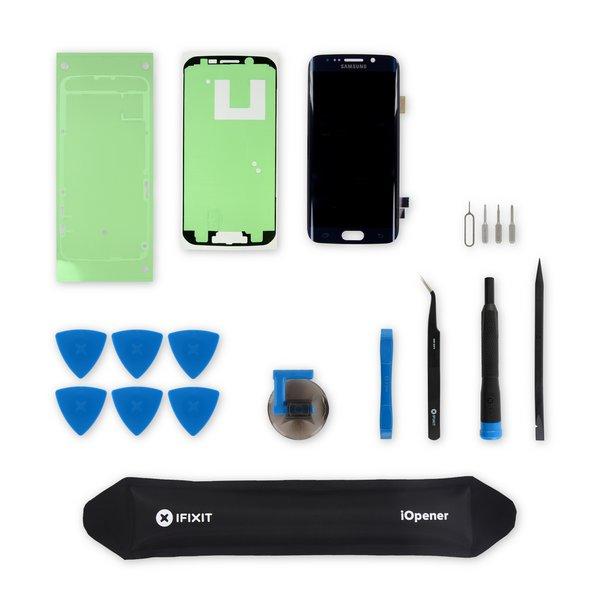 Galaxy S6 Edge Screen / Black / New / Fix Kit