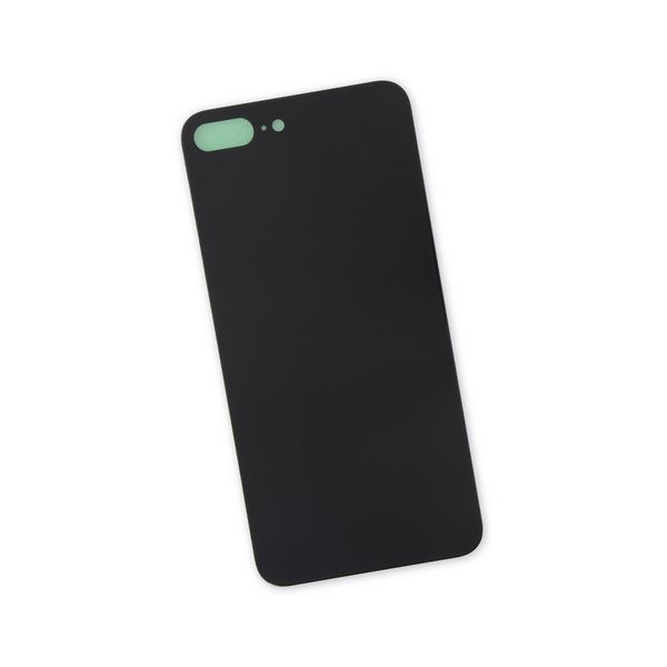 iPhone 8 Plus Aftermarket Blank Rear Glass Panel / Black