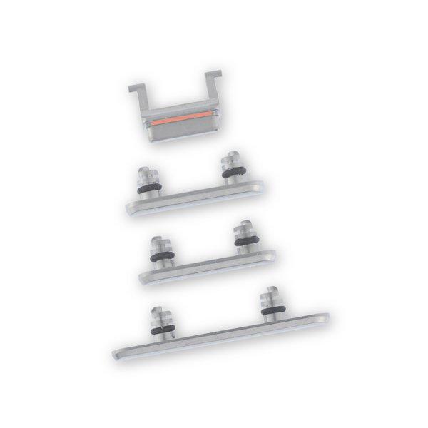 iPhone X Case Button Set / Silver