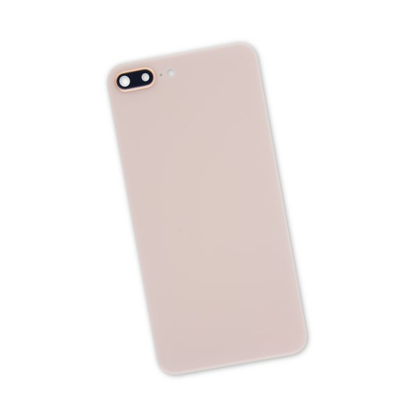 iPhone 8 Plus Aftermarket Blank Rear Glass Panel with Camera Lens / Gold