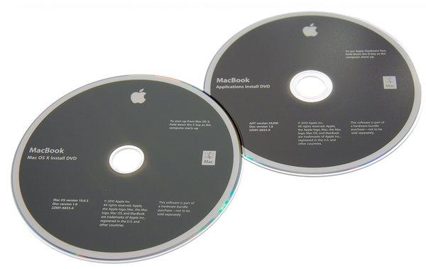 MacBook Unibody (A1342 Mid 2010) Restore DVDs
