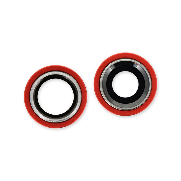 iPhone 12 Rear Camera Lenses and Bezels / Red