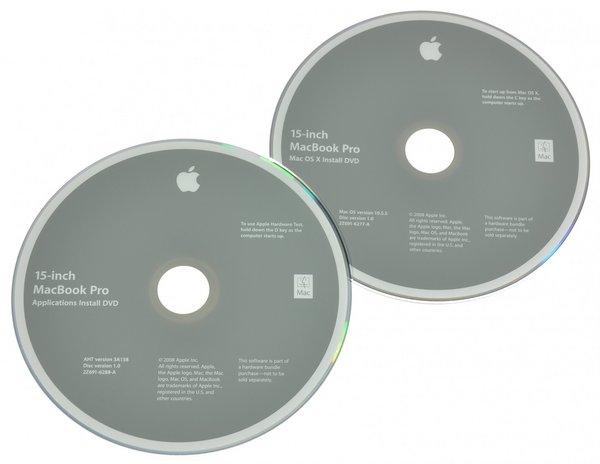 "MacBook Pro 15"" Unibody (Late 2008) Restore DVDs"