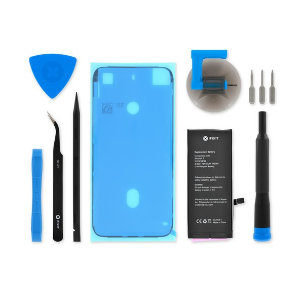 Upgraded A1778 A1779 2700mAh High Capacity New 0 Cycle Replacement Battery with Complete Repair Tool Kit for A1660 Battery for iPhone 7, 36 Months Service