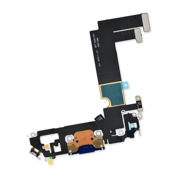 iPhone 12 mini Lightning Connector Assembly / Blue