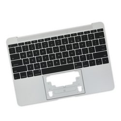 "MacBook 12"" Retina (Early 2016-2017) Upper Case with Keyboard / Silver / New"