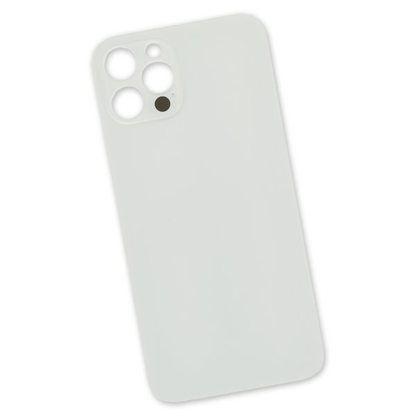 iPhone 12 Pro Aftermarket Blank Rear Glass Panel / Silver
