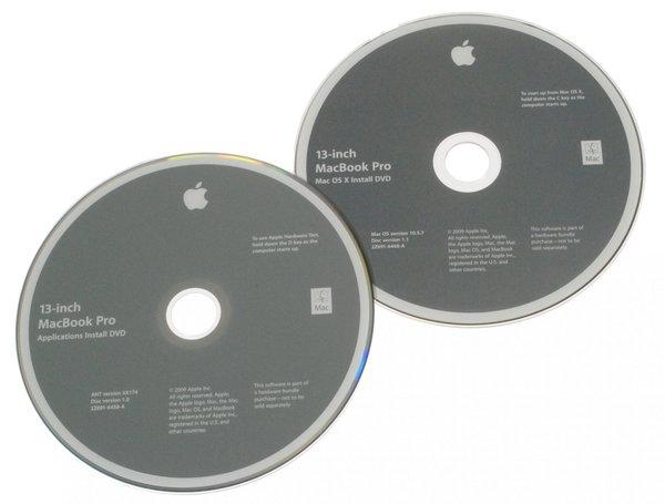 """MacBook Pro 13"""" Unibody (Mid 2009) Restore DVDs"""