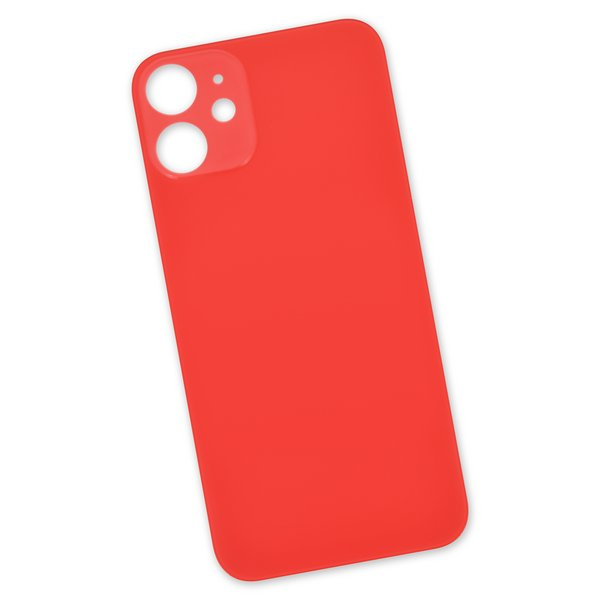 iPhone 12 mini Aftermarket Blank Rear Glass Panel / Red