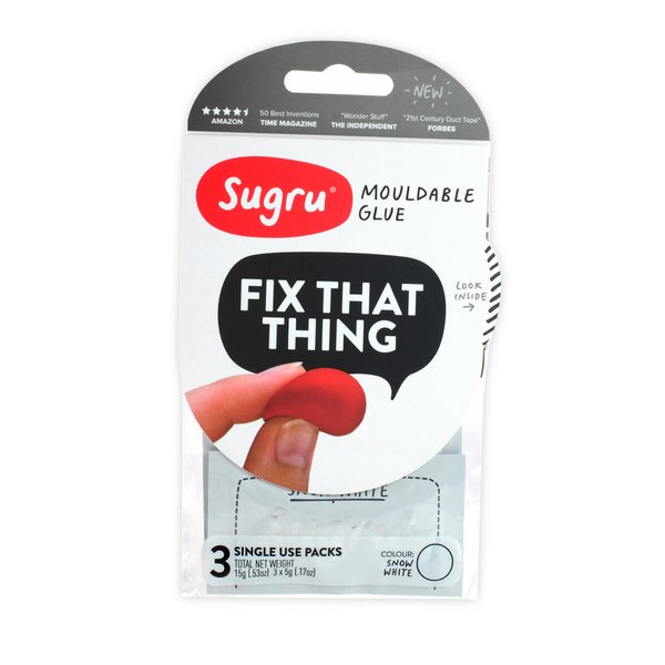 Sugru Moldable Rubber (3 Pack) / White