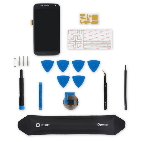 Moto X Screen / Black / Fix Kit