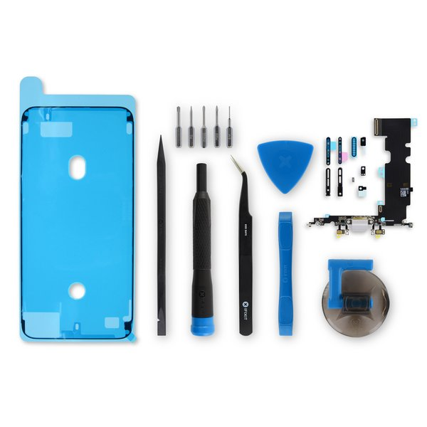 iPhone 8 Plus Lightning Connector Assembly / Gray / Fix Kit