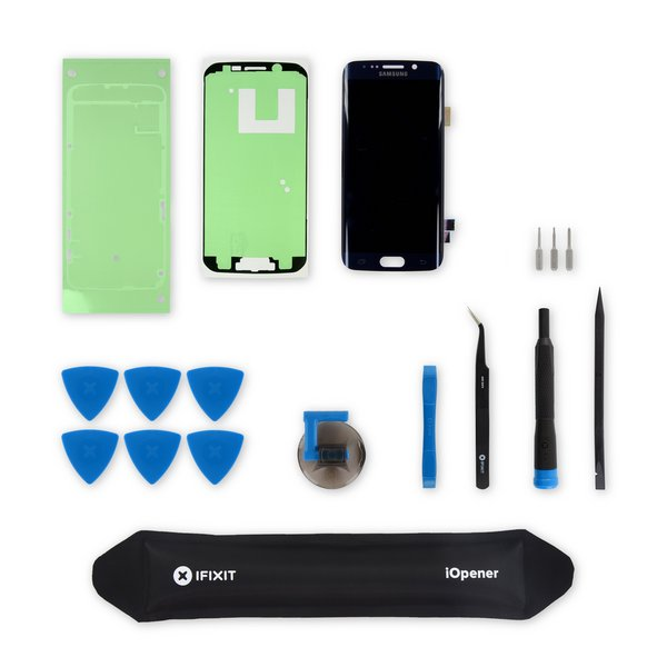 Galaxy S6 Edge Screen / Black / New / Fix Kit v3 / driver + SIM Tool