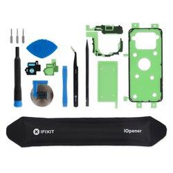 Galaxy S8 Rear Camera Bezel & Lens Cover / Black / Fix Kit v2 / driver + SIM Tool