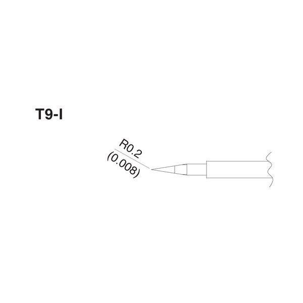 Tiny Pointed Hot Tweezer Tips Hakko T9-I fits FM-2023 Micro Soldering Tweezers