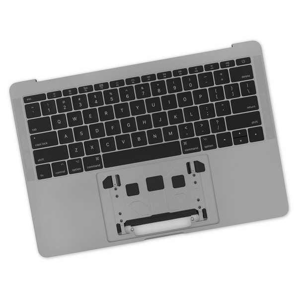 """MacBook Pro 13"""" Retina (Function Keys, Late 2016-2017) Upper Case Assembly / A-Stock / Dark Gray / With Battery / No Trackpad"""