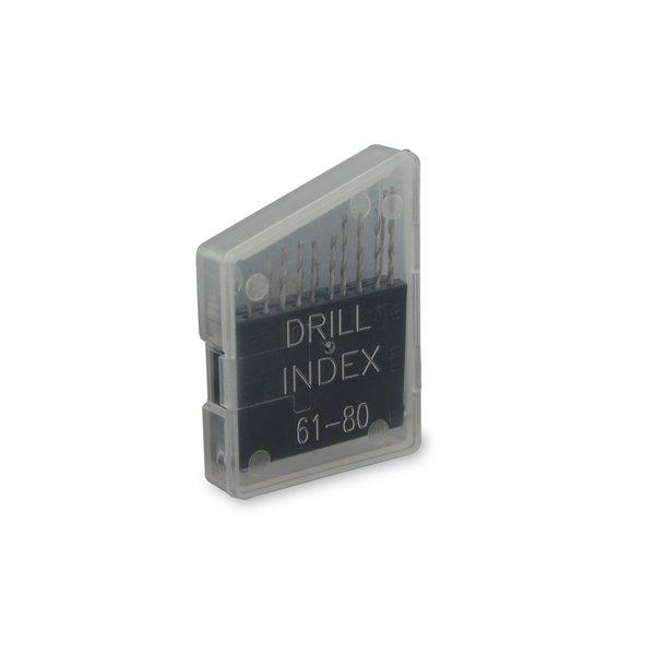 Precision Drill Bits / .34 - .99 mm / 20 bits