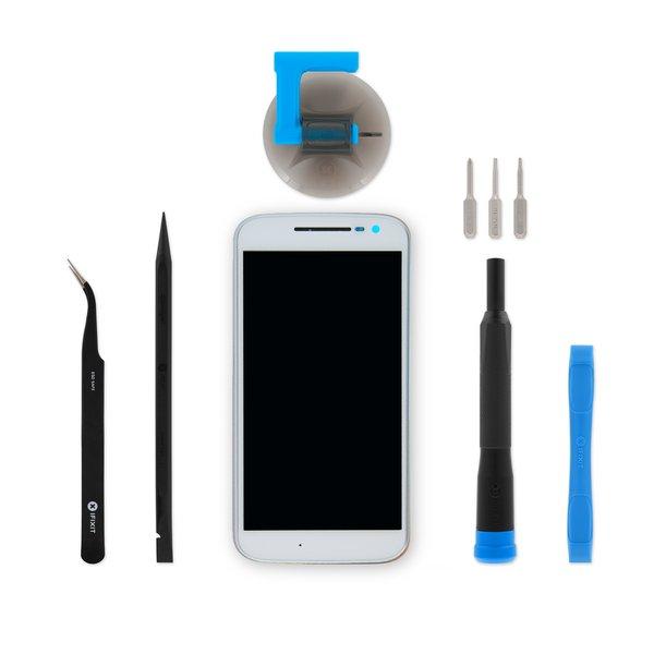 Moto G4 Screen / White / Fix Kit v2