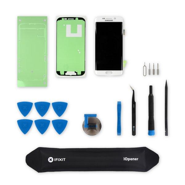 Galaxy S6 Edge Screen / White / New / Fix Kit