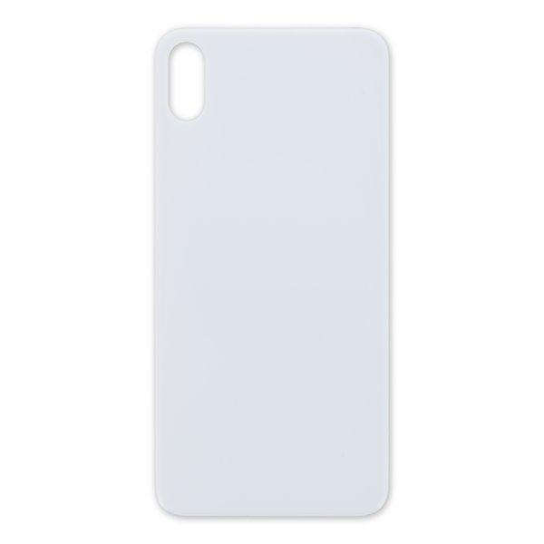 iPhone XS Max Aftermarket Blank Rear Glass Panel / Silver