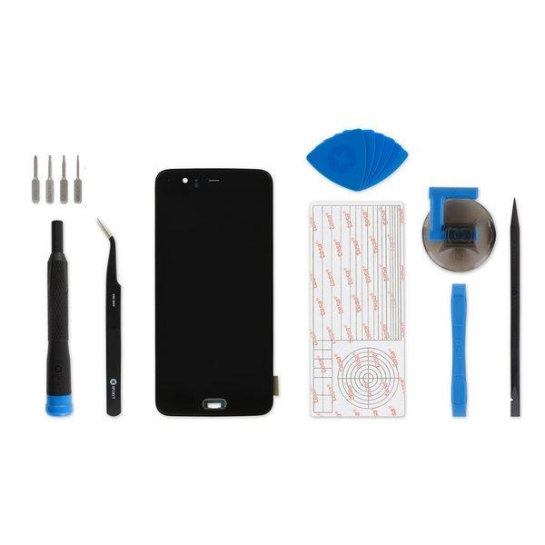 OnePlus 5 Screen / Black / Fix Kit v2 / driver + SIM Tool