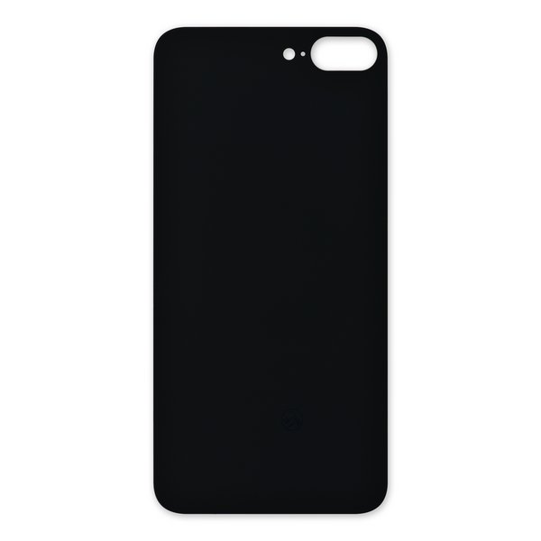 iPhone 8 Plus Aftermarket Blank Rear Glass Panel / Black