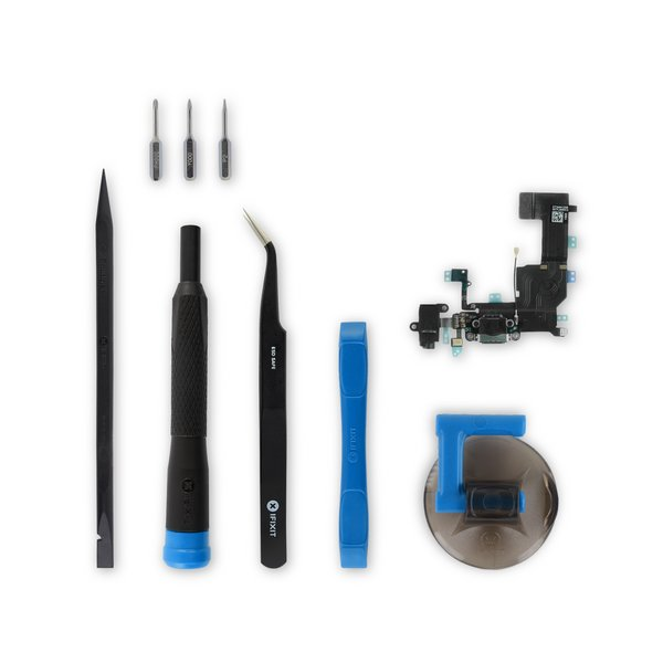 iPhone 5c Lightning Connector and Headphone Jack / New / Fix Kit