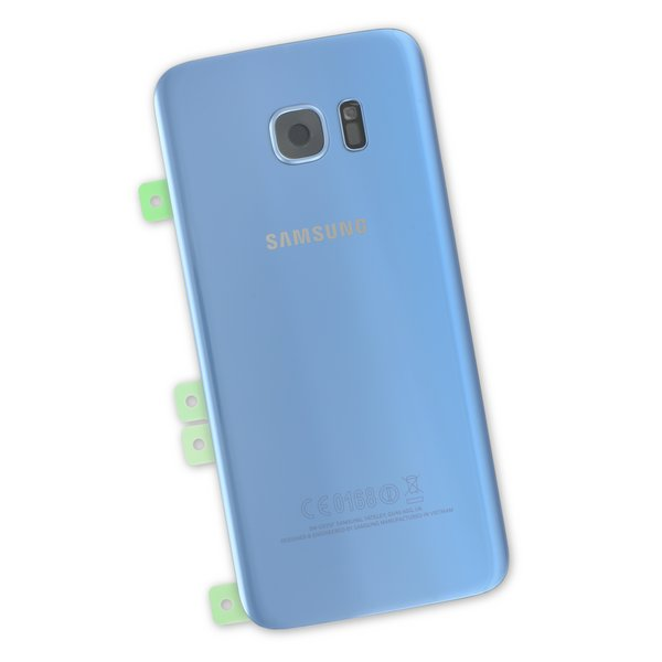 Galaxy S7 Edge Rear Glass Panel/Cover - Original / Part Only / Blue