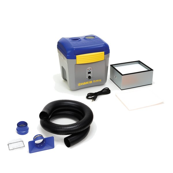 Fume Extractor Hakko FA-430 / Complete with Square Nozzle Duct Kit