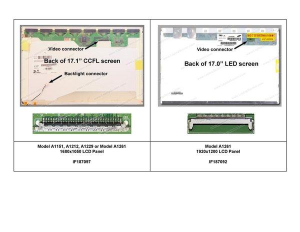 """MacBook Pro 17"""" (Model A1151/A1212/A1229/A1261) LCD Panel"""