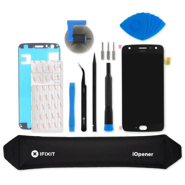 Moto X4 Screen / Black / Fix Kit